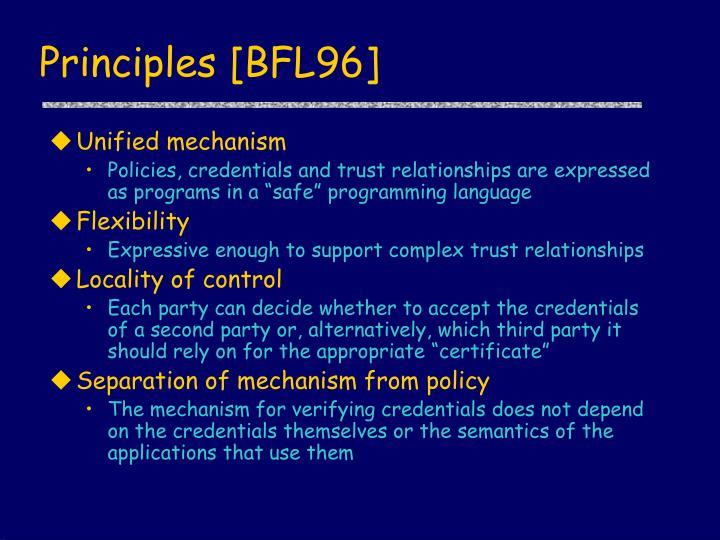 Principles [BFL96]