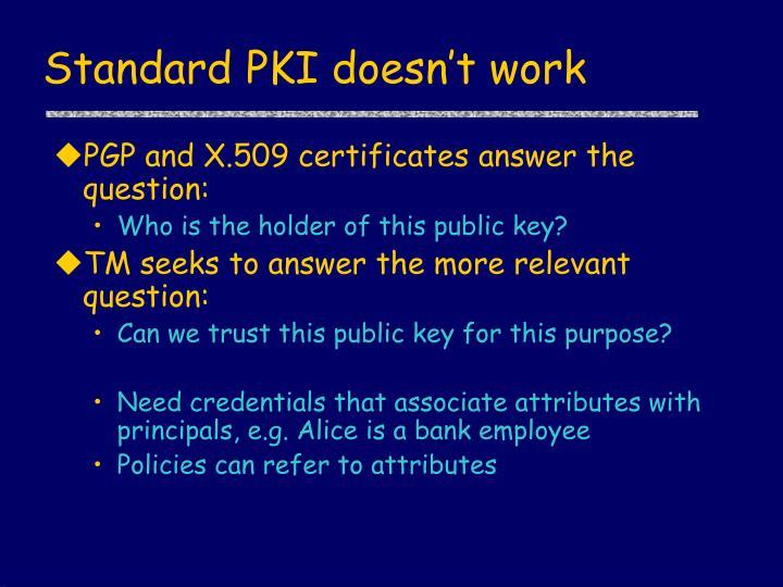 Standard PKI doesn't work
