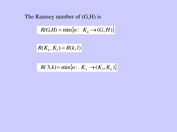 The Ramsey number of (G,H) is