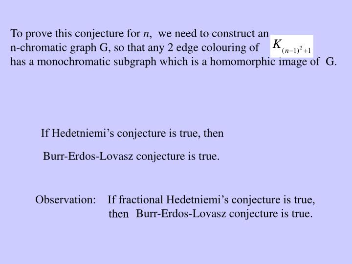 Observation:    If fractional Hedetniemi's conjecture is true,