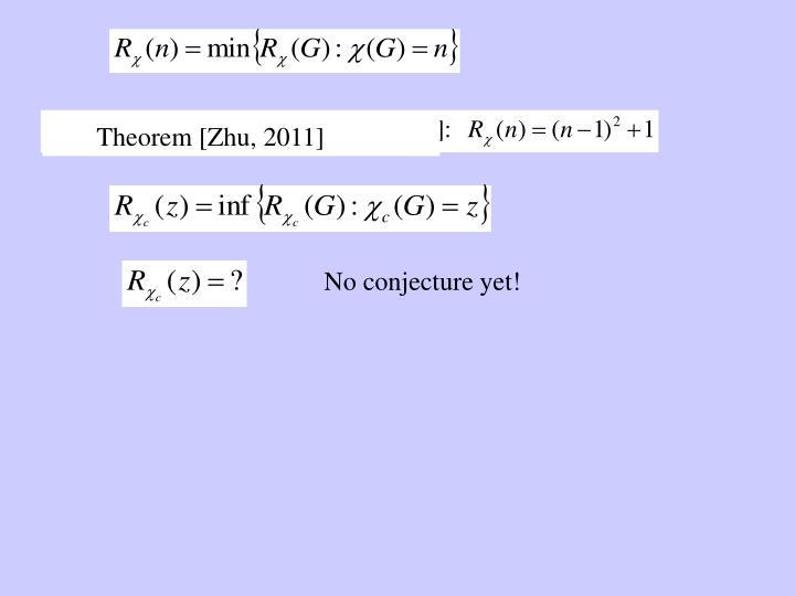 Theorem [Zhu, 2011]
