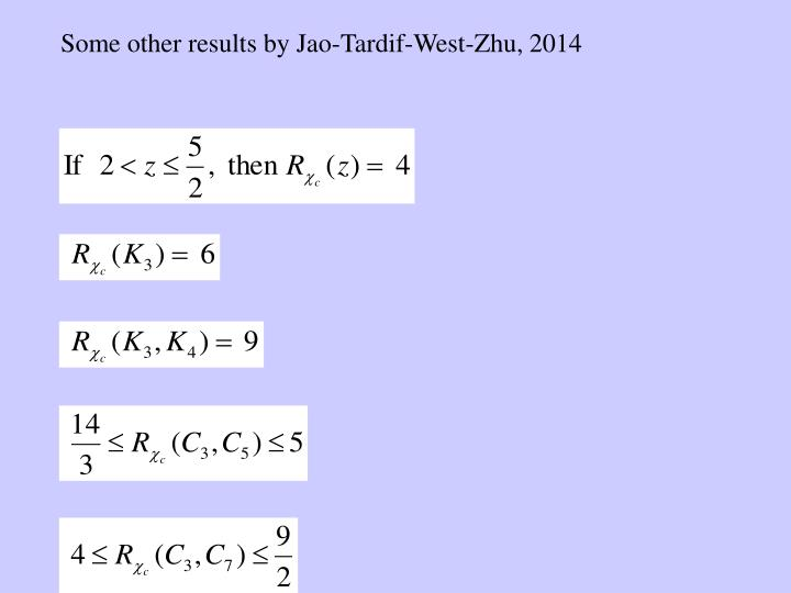 Some other results by Jao-Tardif-West-Zhu, 2014
