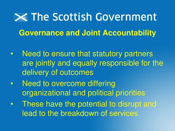 Governance and Joint Accountability