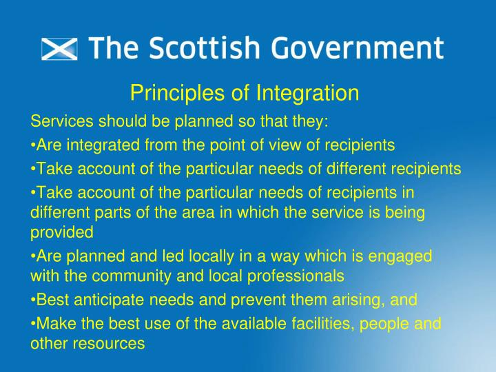 Principles of Integration