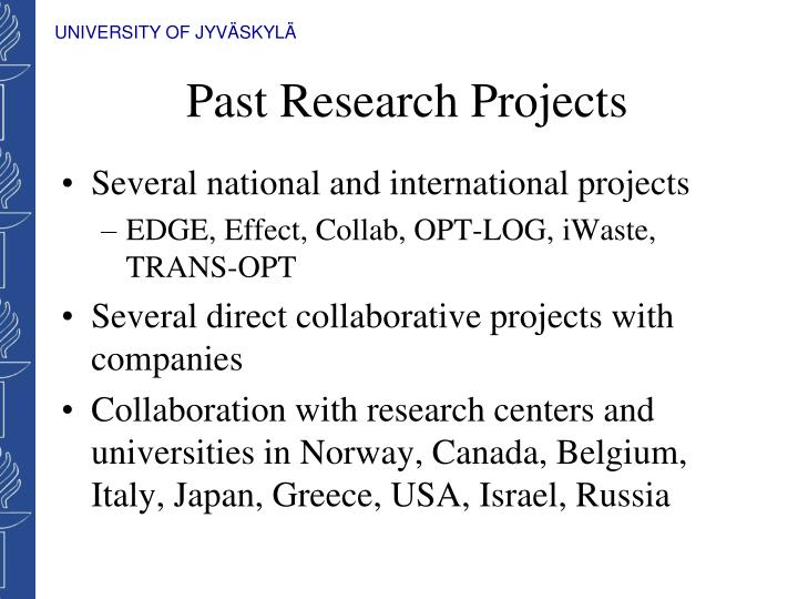 Past Research Projects