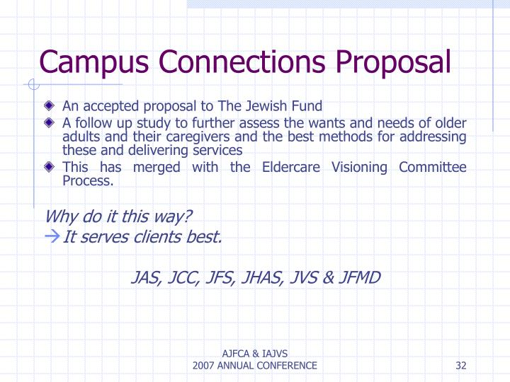 Campus Connections Proposal