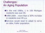 challenges an aging population