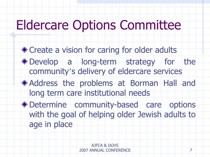 Eldercare Options Committee
