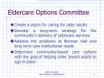 eldercare options committee