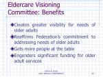 eldercare visioning committee benefits