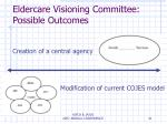 eldercare visioning committee possible outcomes