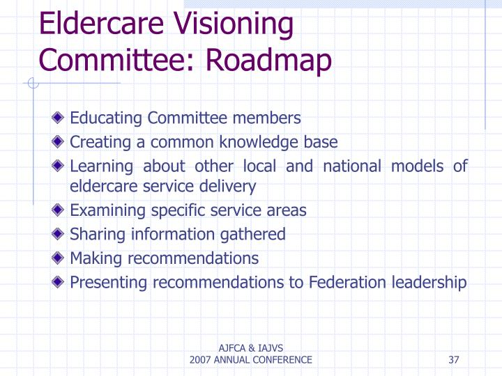 Eldercare Visioning Committee: Roadmap
