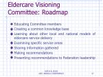 eldercare visioning committee roadmap