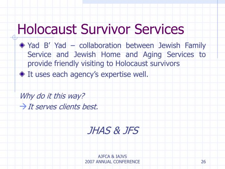 Holocaust Survivor Services