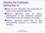 meeting the challenge getting buy in