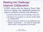 meeting the challenge improve collaboration