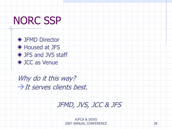 NORC SSP