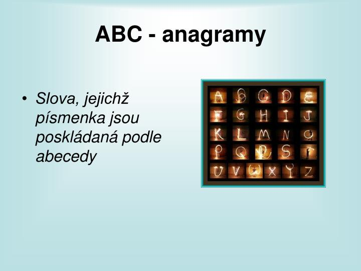 Abc anagramy