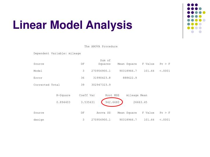 Linear Model Analysis