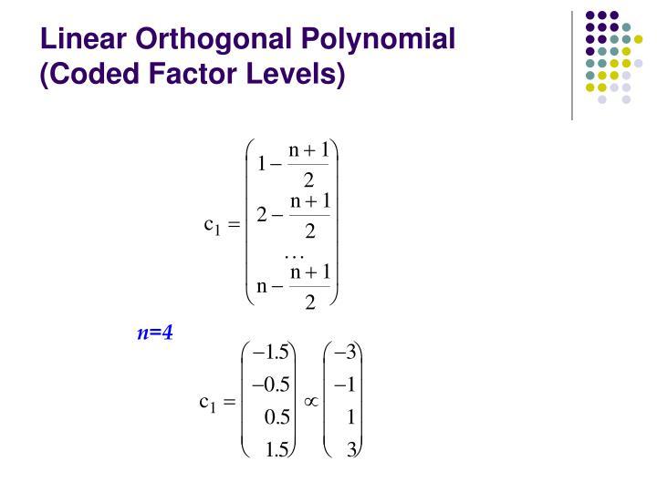 Linear Orthogonal Polynomial