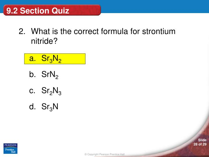 9.2 Section Quiz