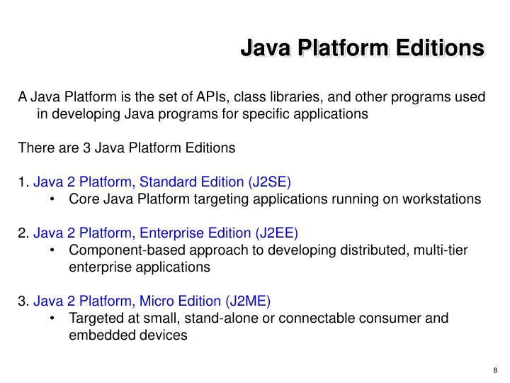 Java Platform Editions