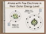 atoms with few electrons in their outer energy level