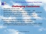 challenging conclusions