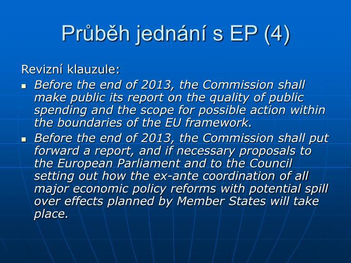 Průběh jednání s EP (4)