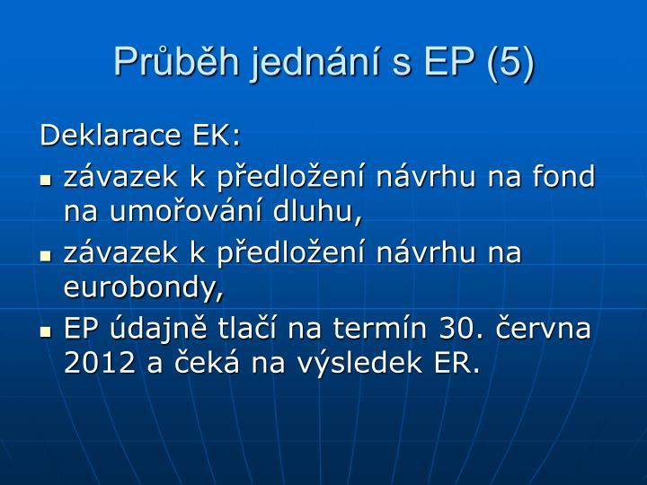 Průběh jednání s EP (5)