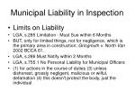 municipal liability in inspection2