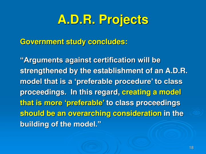 A.D.R. Projects