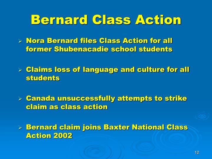 Bernard Class Action