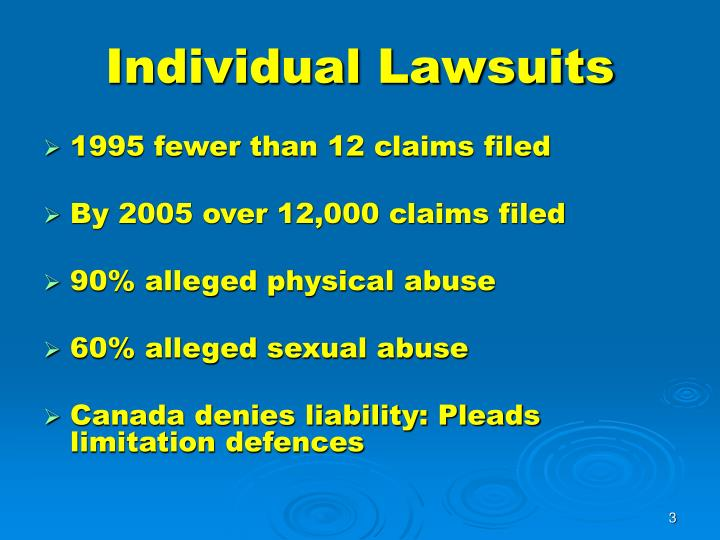 Individual lawsuits