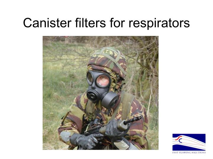 Canister filters for respirators