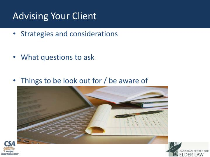 Advising Your Client