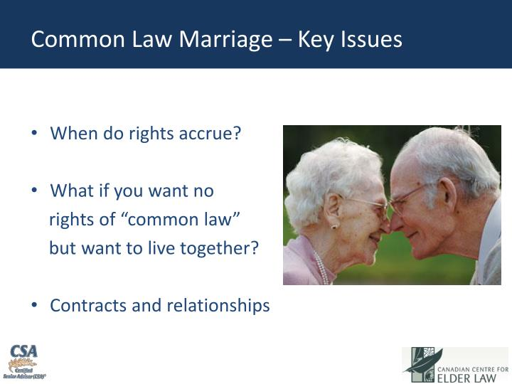 Common Law Marriage – Key Issues
