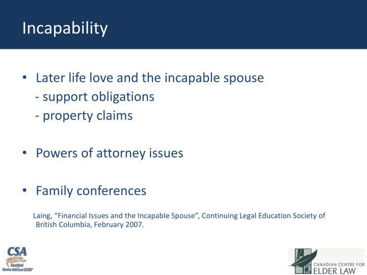 Incapability
