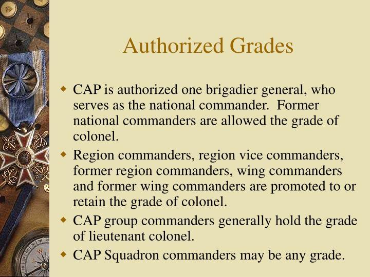 Authorized Grades