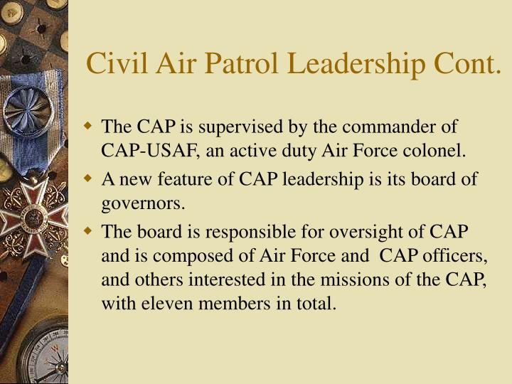 Civil Air Patrol Leadership Cont.