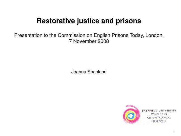 restorative justice in the prison setting
