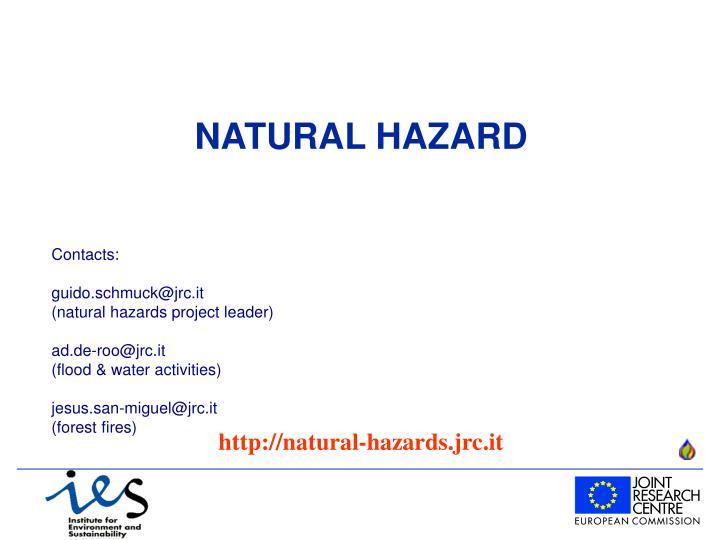 NATURAL HAZARD