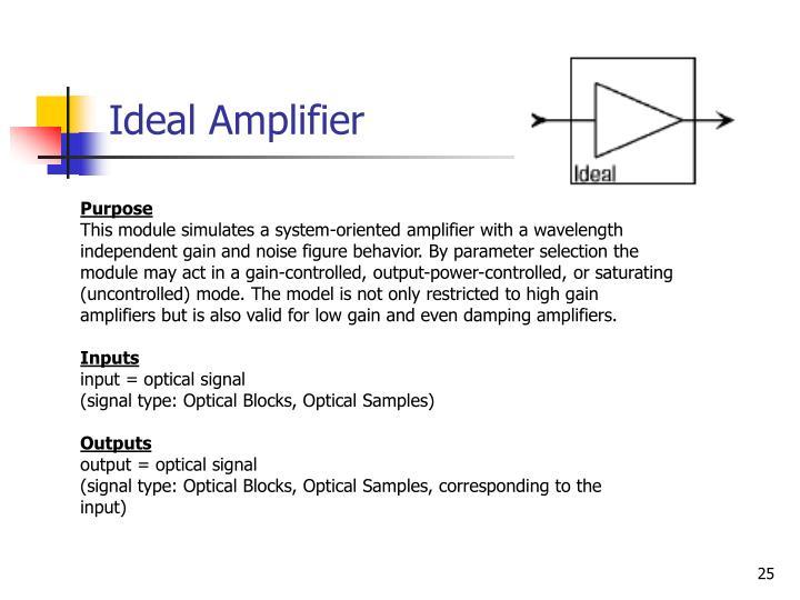 Ideal Amplifier