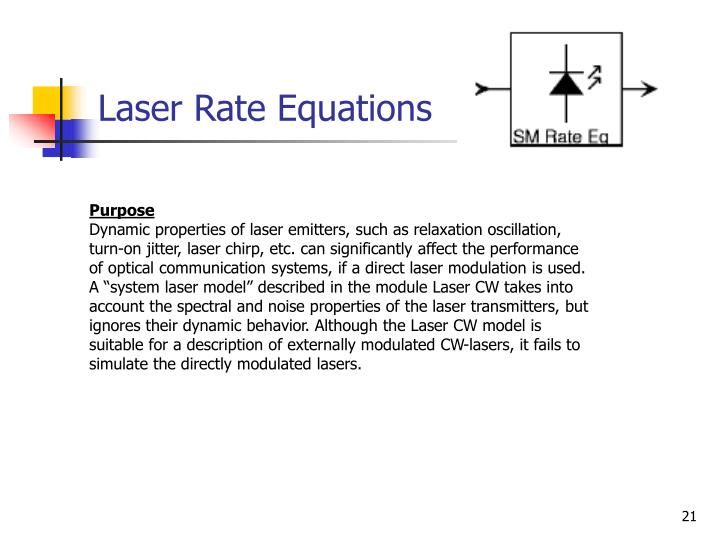 Laser Rate Equations