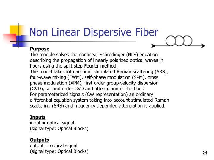 Non Linear Dispersive Fiber