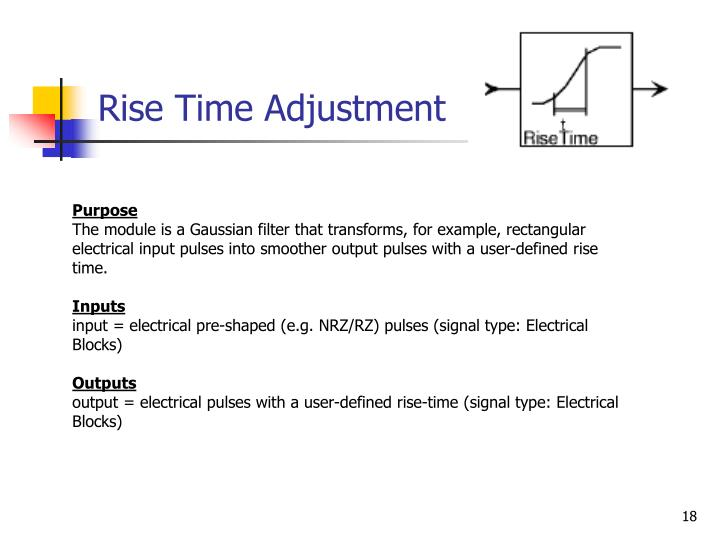 Rise Time Adjustment