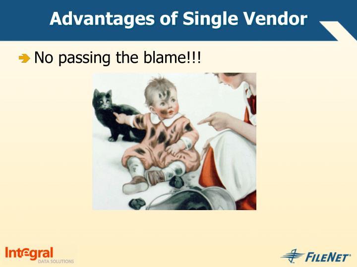Advantages of Single Vendor