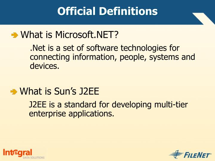 Official Definitions