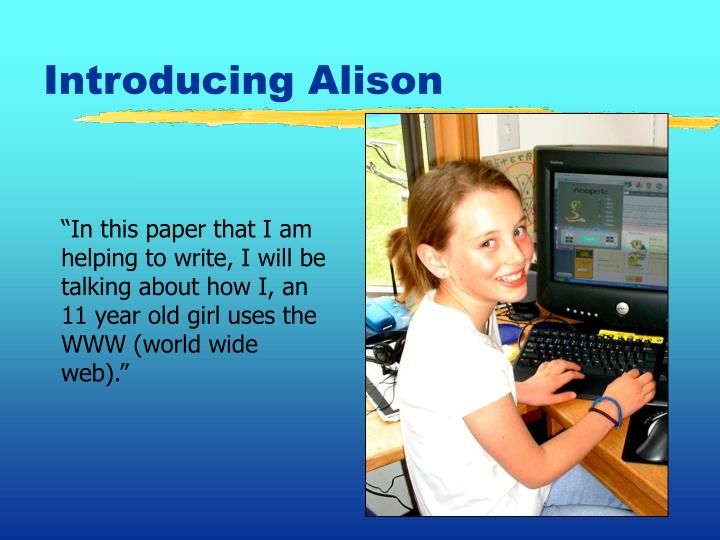 Introducing Alison