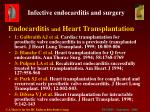 endocarditis and heart transplantation